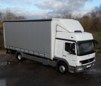 12 Tonne Curtainside with large tail lift